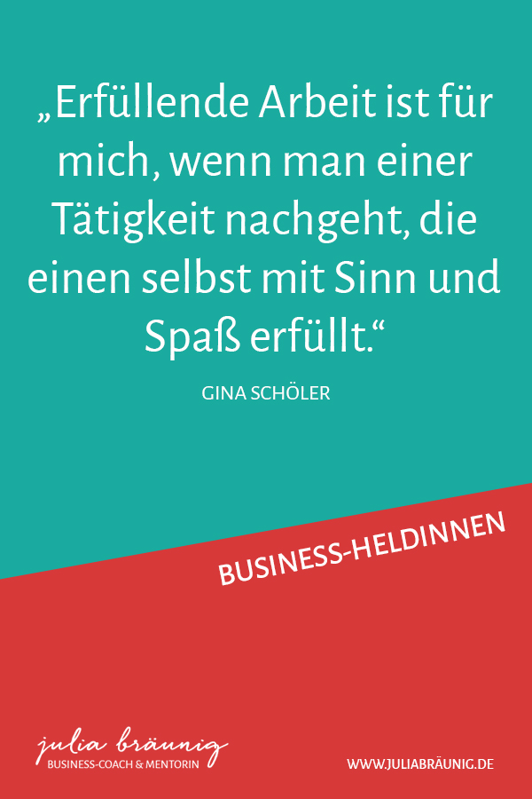 Business-Heldinnen: Glücksministerin Gina Schöler im Interview