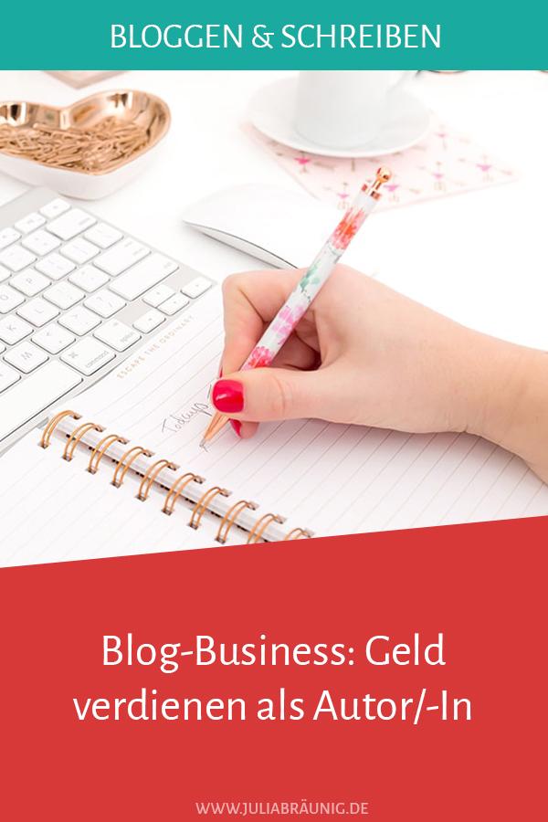Blog-Business: Geld verdienen als Autor/-In
