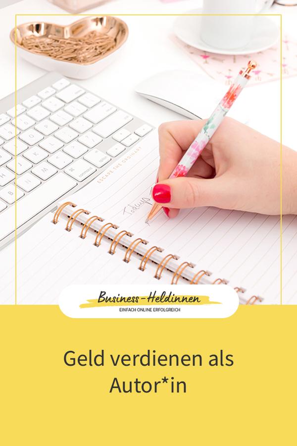 Geld verdienen als Autor*in