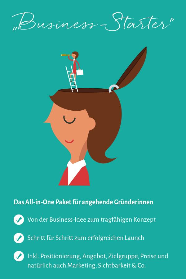 """Coachingpaket """"Business-Starter: Idee & Konzept, Erfolgreicher Launch, Positionierung, Zielgruppe, Angebote, Marketing & Co"""""""