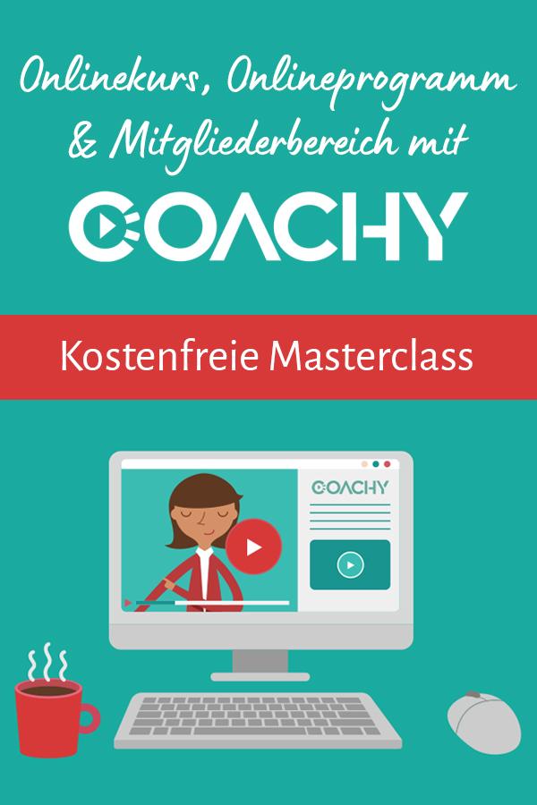 Kostenfreie Masterclass: Onlinekurse und Online-Programme erstellen mit Coachy