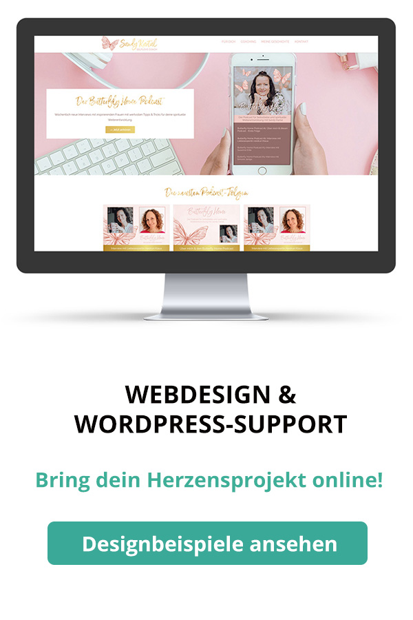 Webdesign & WordPress-Support - Bring dein Herzensbusiness online