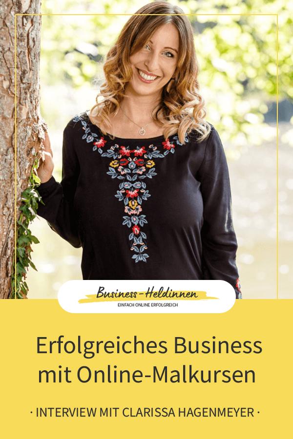 Erfolgreiches Business mit Online-Malkursen: Im Gespräch mit Clarissa Hagenmeyer