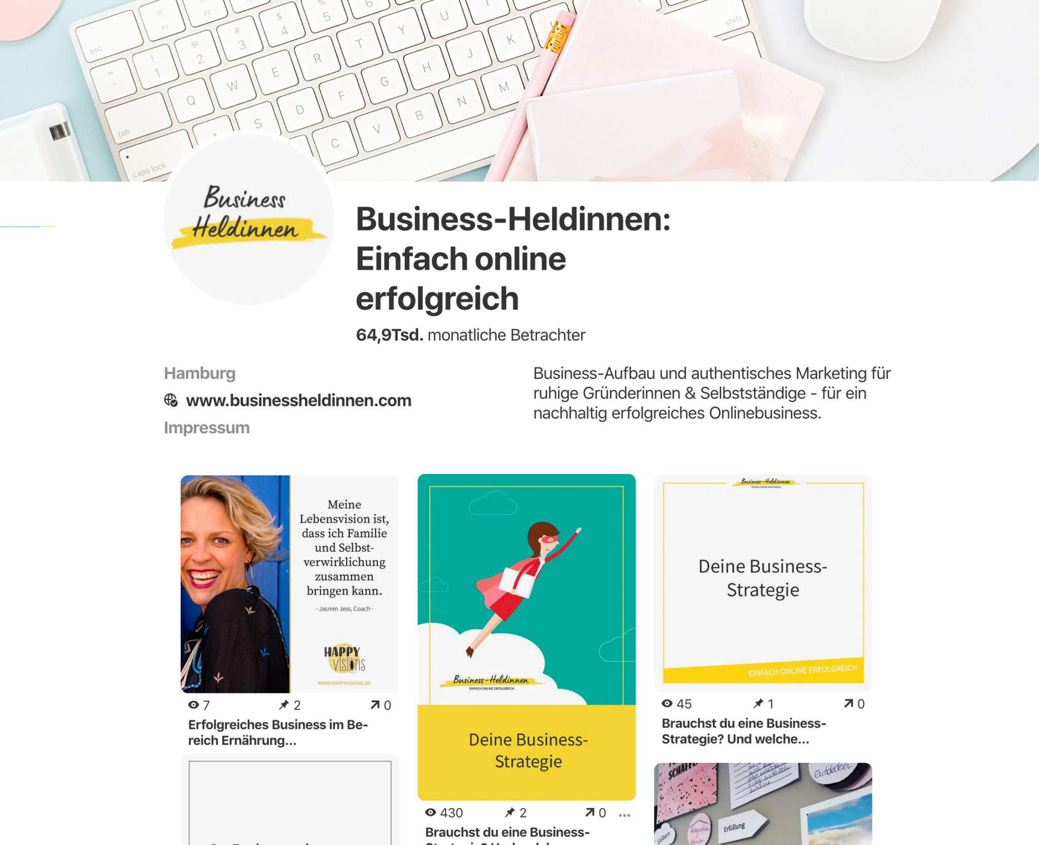 Pinterest als Marketing-Instrument für dein Business: Dein Profil optimal einrichten