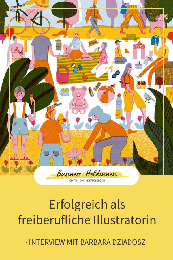 Erfolgreich als freiberufliche Illustratorin mit eigenem Label: Interview mit Barbara Dziadosz