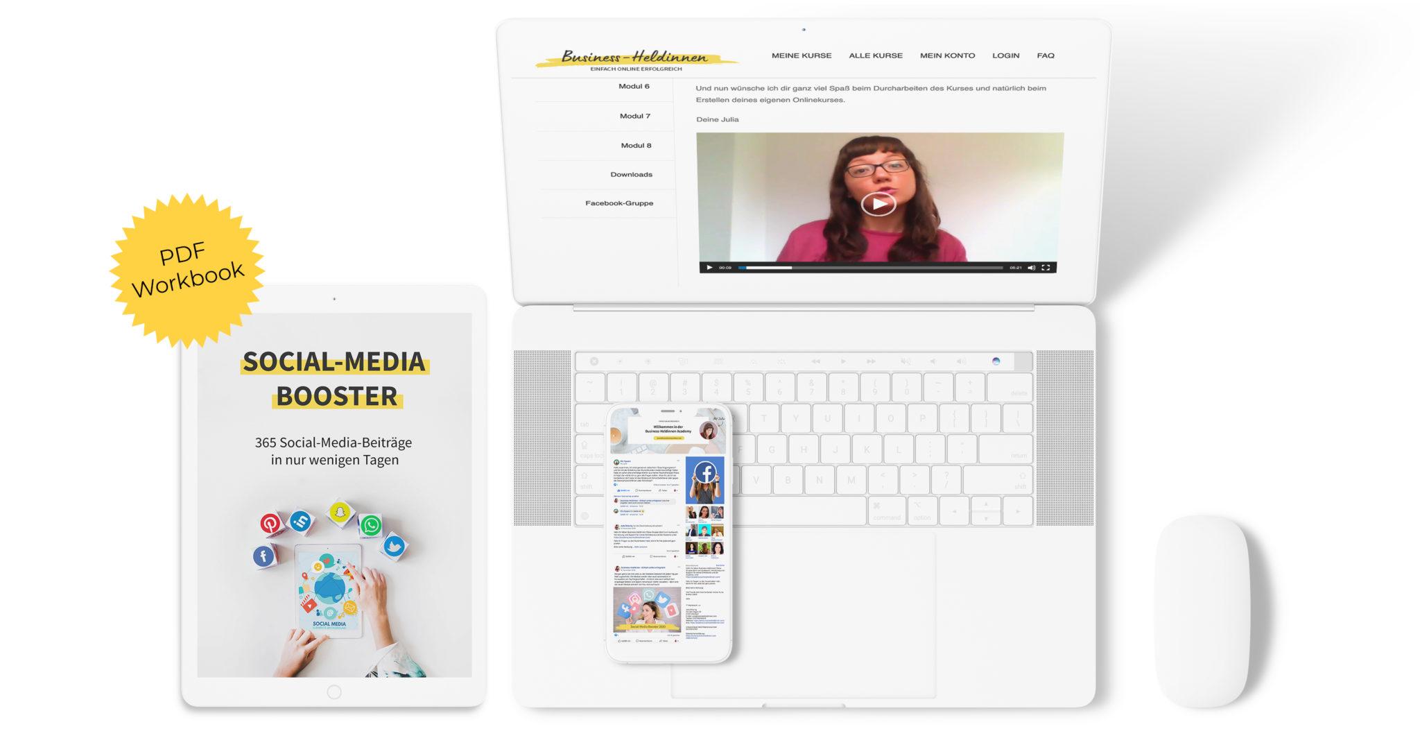Social-Media Booster - Deine Social-Media-Beiträge fürs ganze Jahr