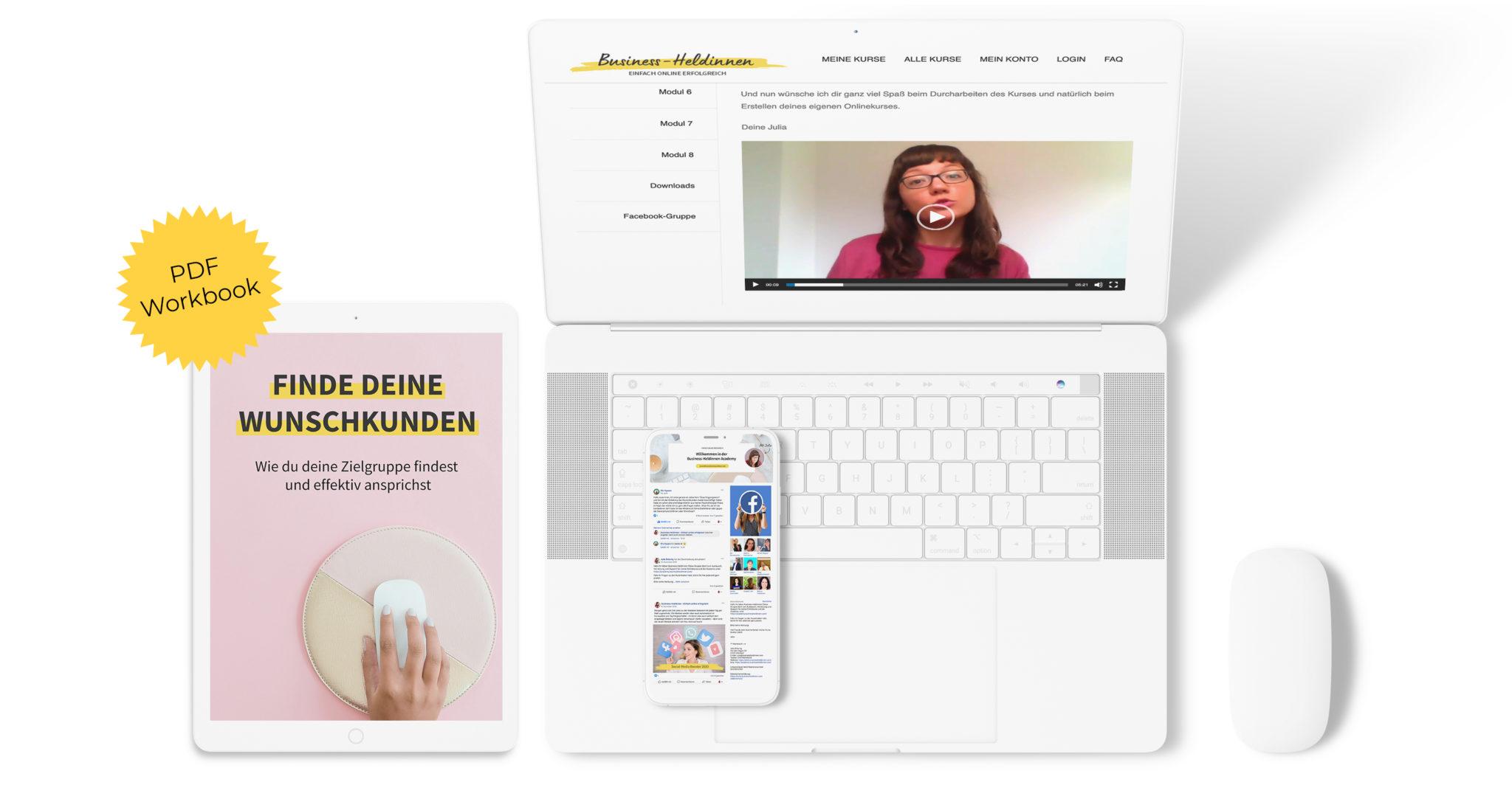 """Onlinekurs """"Deine Zielgruppe - Wie du deine Wunschkunden findest und effektiv ansprichst"""""""