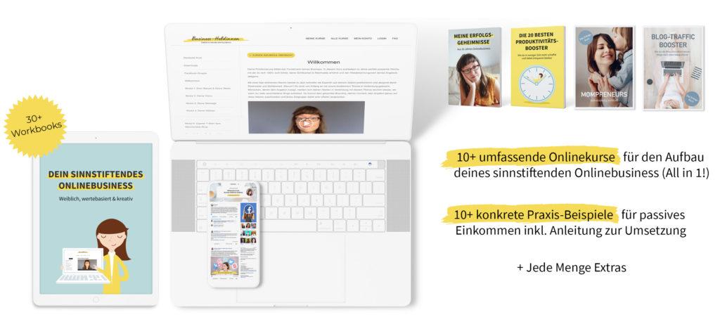 Dein sinnstiftendes Onlinebusiness: Weiblich, wertebasiert & kreativ