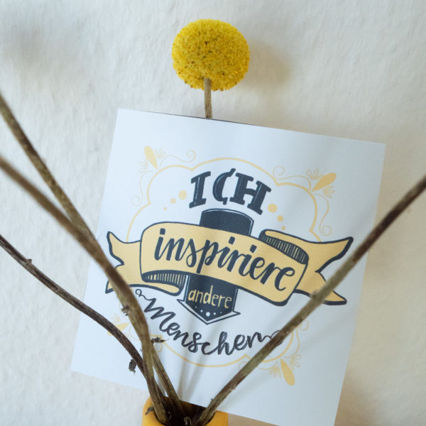 Inspirationskarten Handlettering