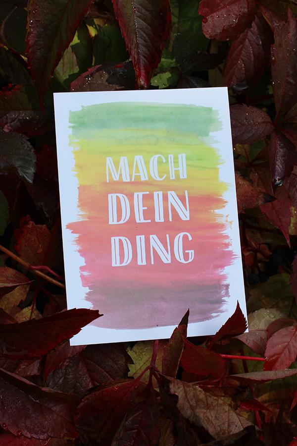 """Postkarten-Set - """"Mach dein Ding!"""""""