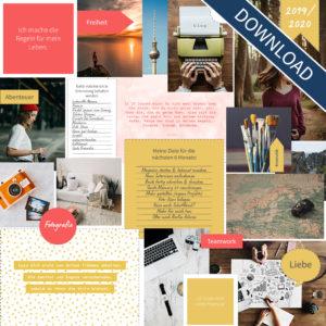 "Vision Board Layout-Set - ""Colors"" (Digital Download)"