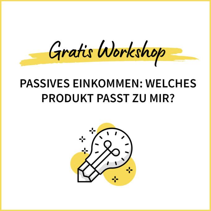 Workshop: Welches Produkt passt zu mir?