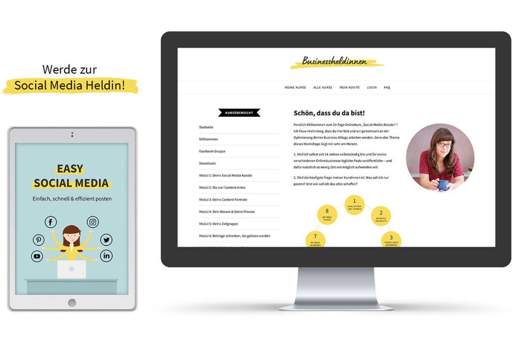 Easy Social Media : Werde zur Social Media Heldin